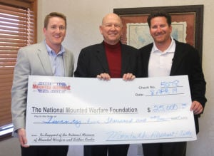 National Mounted Warfare Foundation Check Presentation