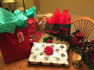 <p>After your gifts have been wrapped with a professional flair, enjoy a glass of eggnog and behold your festive work.</p>
