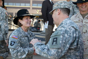 Brig. Gen. Laura Richardson Patch Ceremony