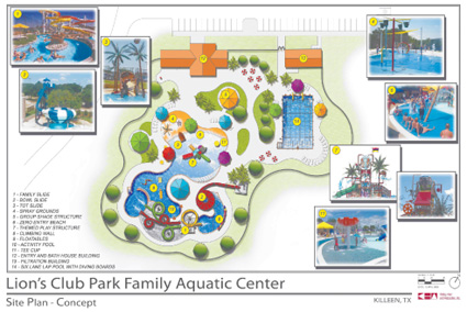 Aquatic center at Lion's Club Park opening this year