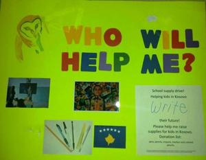 Poster for donations