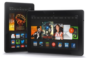 Kindle Fire HDX: The Kindle Fire HDX is popular for Amazon loyalists or first-time tablet buyers. - Courtesy of Amazon