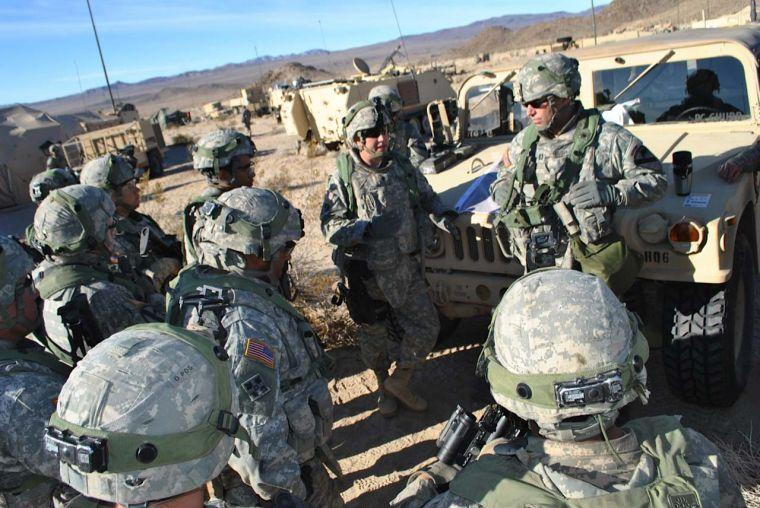 Greywolf soldiers at National Training Center
