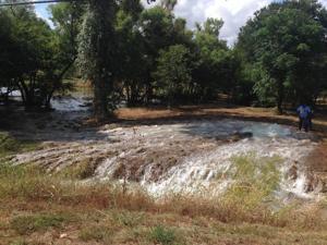 Water main break