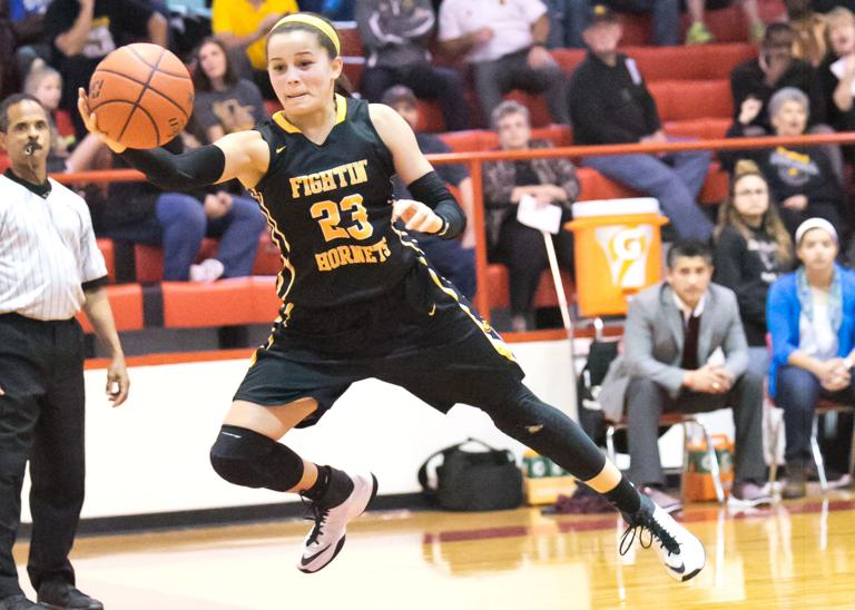 4A GIRLS PLAYOFFS: No. 18 Hornets overcome early stage fright, rout Palestine 50-24