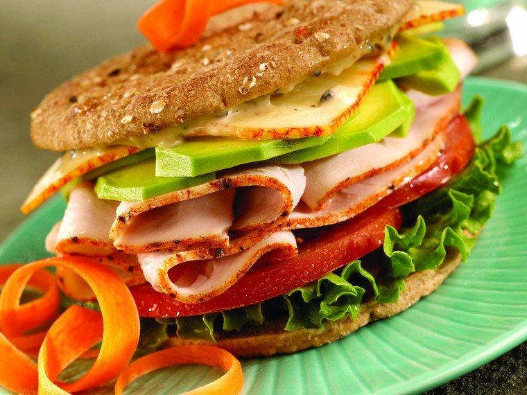California-style turkey sandwich