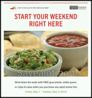 Chilis FREE Chips & Salsa, Guac or Queso!