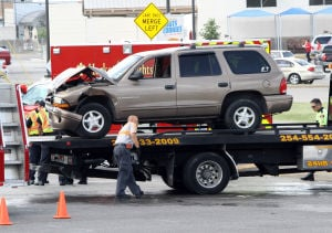 Two-vehicle crash in Heights