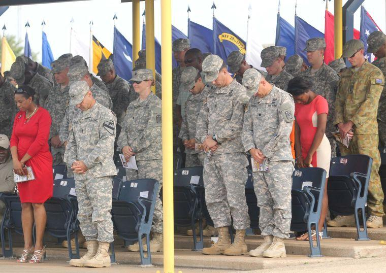 11th Signal Brigade uncasing ceremony