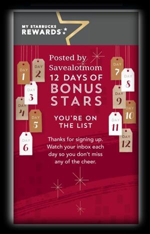 Starbucks is teasing us again! They are doing their 12 days of Bonus Stars December 4th!