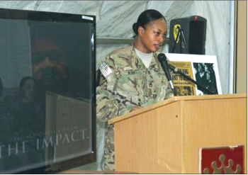 615th Aviation Support Battalion soldiers honor King