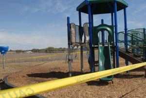 School playground damaged by fire