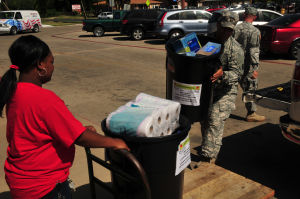13th Sustainment donates supplies to adopted school