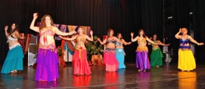 Bellydancing: The Central Texas Belly Dance Association's fourth annual Hafla at Temple College on Oct. 5 provided a colorful performance of the ancient dance form. - Photo by Steve Pettit | Herald