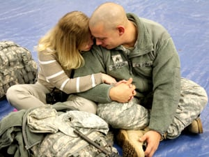 Soldier parts with family, deploys to Afghanistan