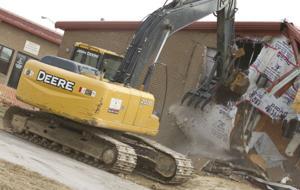 Demolition of Fort Hood shooting site