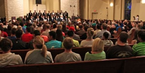 Magnificat: A capacity crowd packed the Manning Chapel at the University of Mary Hardin-Baylor on Tuesday for a Concert Choir performance of Magnificat by J. S. Bach, with Michelle Roueche as conductor. - Photo by Steve Pettit | Herald