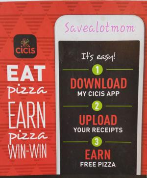 CiCi's Pizza FREE Buffet! Check out the Rewards Program that can Earn you FREE FOOD!