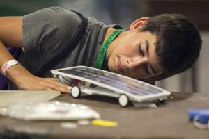 Brandt Rodeffer and his solar-powered vehicle