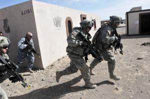 Brave Rifles train at NTC