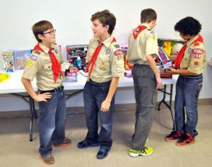 Boy Scouts and Blue Santa