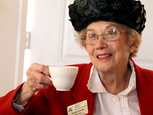 Royal opening at Heights tearoom