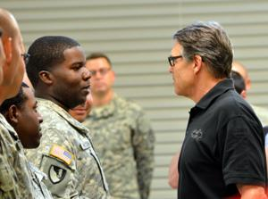 Rick Perry at Fort Hood