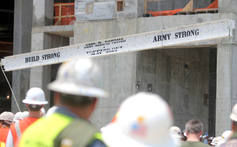 "Carl R. Darnall Army Medical Center ""topping out"" ceremony"
