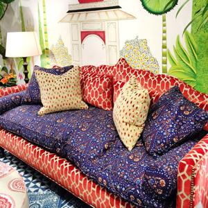 Upgrade upholstery with peppy fabrics, bold colors