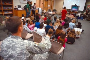 Meadows Elementary students talk to peers in Iraq