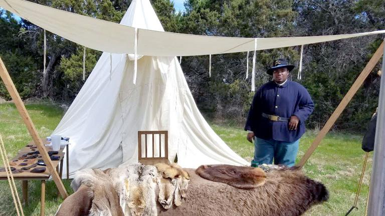 History of the Buffalo Soldiers re-enacted