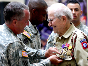 Finally honored: WWII vet receives medals 66 years late