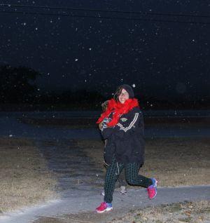 <p>Kids loving the rare snowfall in CENTEX.......not knowing they would get a snow day the next day!</p>
