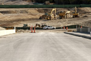 U.S. 190 construction on track