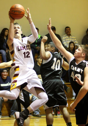 Lometa Vs Evant Boys Basketball: Lometa's Kyle Molter puts up a shot against Evant on Jan. 14 in Lometa. - Herald/CATRINA RAWSON