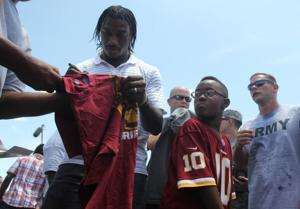 Robert Griffin III and Charles Tillman in Copperas Cove