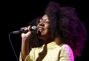 "<p>Ashley Dunn sings Little Eva's ""The Locomotion"" during the Legends of Motown show rehearsal at the Vive Les Arts Theatre in Killeen.</p>"