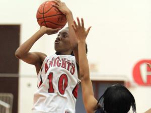 No. 8 Lady Knights cruise past Shoemaker in 12-5A opener