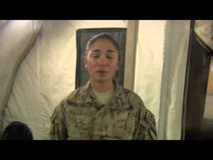 Holiday Greeting from Pfc. Nelly Mercado