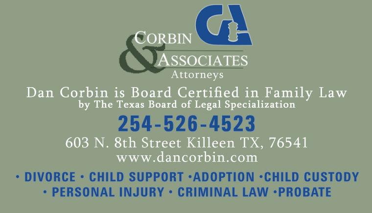 Attorney Killeen Tx 254-526-4523 Corbin and Associates Lawyers