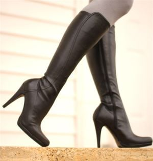 Fashionable Footwear: Black leather stiletto knee boot by Nine West, $129. - Steve Pettit | Herald