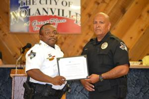 Police officer honored