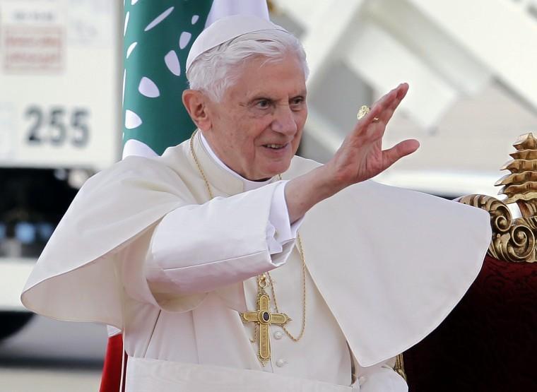 Mideast Lebanon Pope Benedict XVI