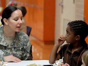 Soldiers tell students about life in military