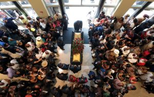 Mourners urge black Americans to take action