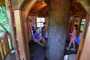 While more elaborate, treehouses still a labor of love