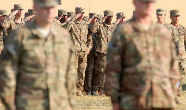 303rd Military Intelligence Battalion Casing of the Colors Cerem