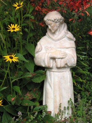 St Francis in the garden