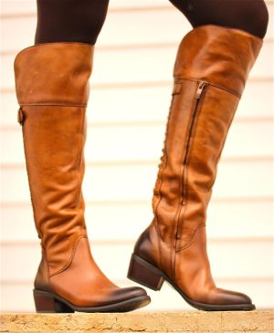 "Fashionable Footwear: ""Bollo"" two-tone leather calf boot by Vince Camuto, $159.95 - Steve Pettit 