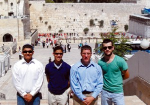 Mission trip to Israel opens eyes, hearts of four young men from HH Catholic church
